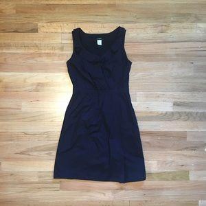 J.CREW sleeveless navy cotton dress.